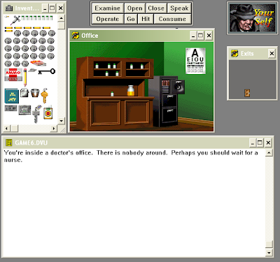 Deja Vu Windows screenshot: Dr. Brody's office