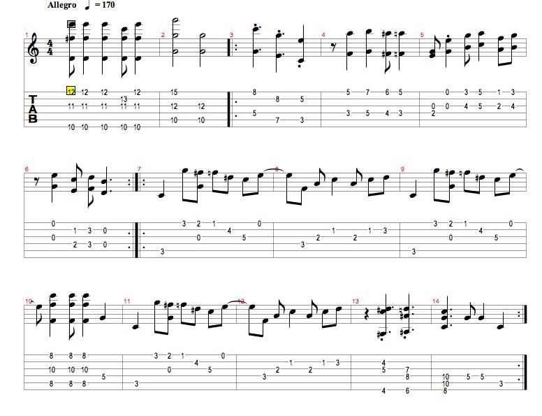 Lecciones clases partituras gratis videos libros de for Partituras guitarra clasica