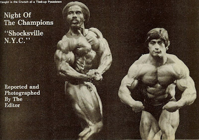 ROBBY ROBINSON AND DAN PADILLA - MUSCLE TRAINING, DEC 1979 POSE DOWN AT THE NIGHT OF THE CHAMPIONS 1979 ▶ www.robbyrobinson.net