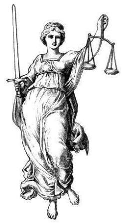 la justicia tiene los ojos tapados (leer es bueno )