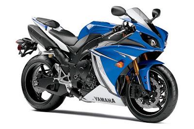 2011 Yamaha YZFR1 blue