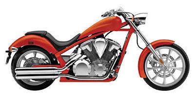 2011 Honda Fury VT1300CX Matte Orange Metallic