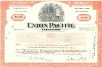 Union Pacific Stock Certificate