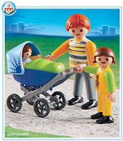 Pai, filho e bebe Playmobil