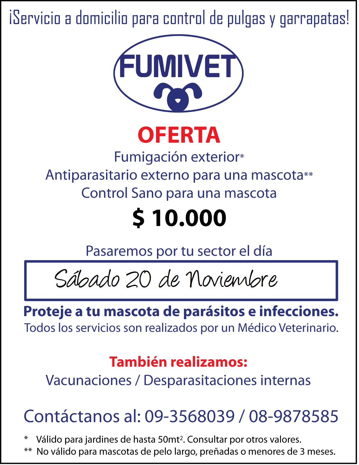 precios servicios veterinarios: