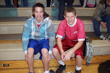 Jake and his best buddy Caleb before a basketball game