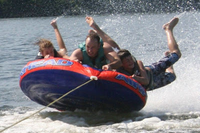 tubing on Lake Gaston