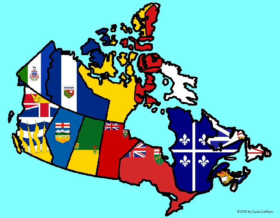 Canada Flag Map - Canada map with flag