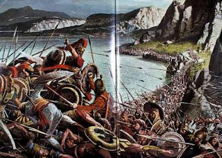 La Bataille de Thermopyles. GreeceBattleThermopylae