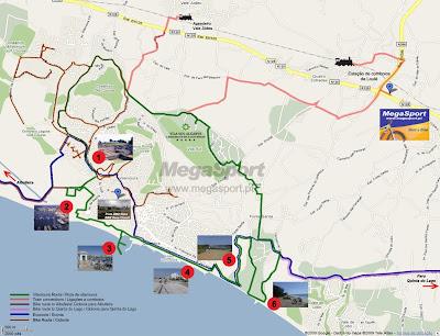 MegaSport Algarve Rent A Bike Blog UK Europe Bike Tours EuroVelo - Portugal map vilamoura