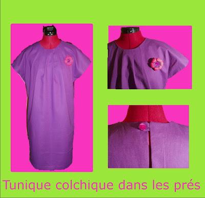Fr n sie de couture tunique printani re springy tunic t nica de primavera - Colchique dans les pres ...