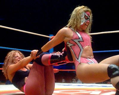 Persephone wrestling in Mexico