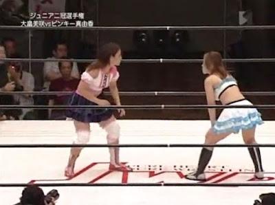 Misaki Ohata - Pinky Mayuka - youtube puroresu