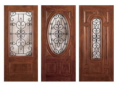 in Medium Oak with a Half Round Transom & Torino Collection Exterior Doors pezcame.com