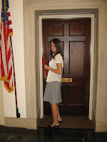 EPIC volunteer Julia Stutz makes a delivery to an office in the House of Representatives.