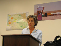 Rep. Jan Schakowsky (D-IL) speaks at the Congressional briefing on Iraqi refugees [EPIC photo: Emily Stivers 7/25/07]