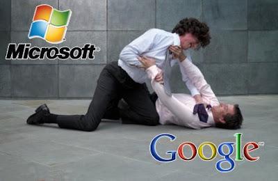 Microsoft vs Google the battle