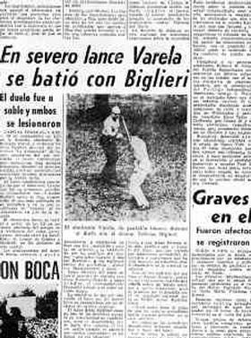 El ultimo duelo de honor registrado en Argentina