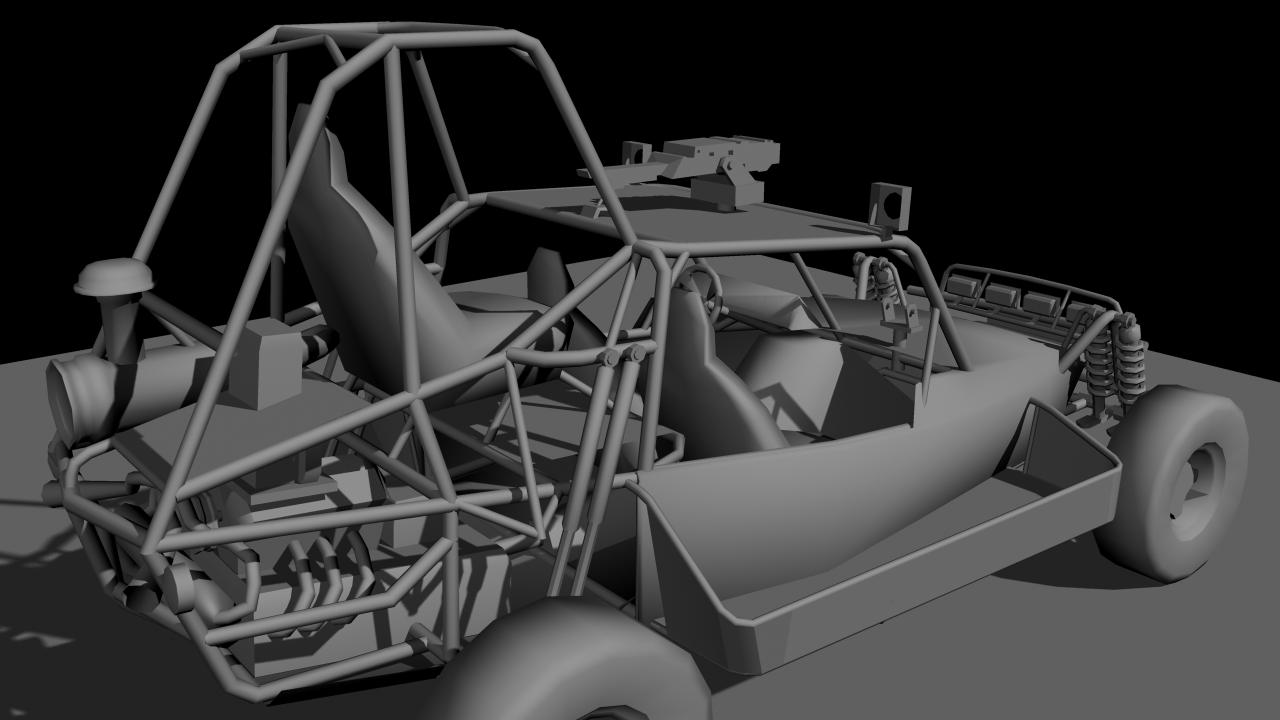 And here is the modeled destroyed after it was hit by a rocket