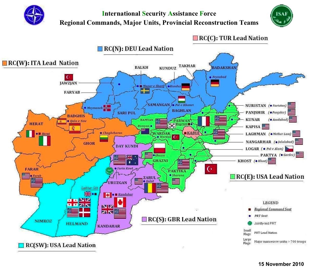 military maps afghanistan natoisaf current troop levels