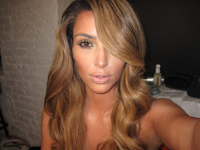 kim kardashian hair. kim kardashian hair colour.