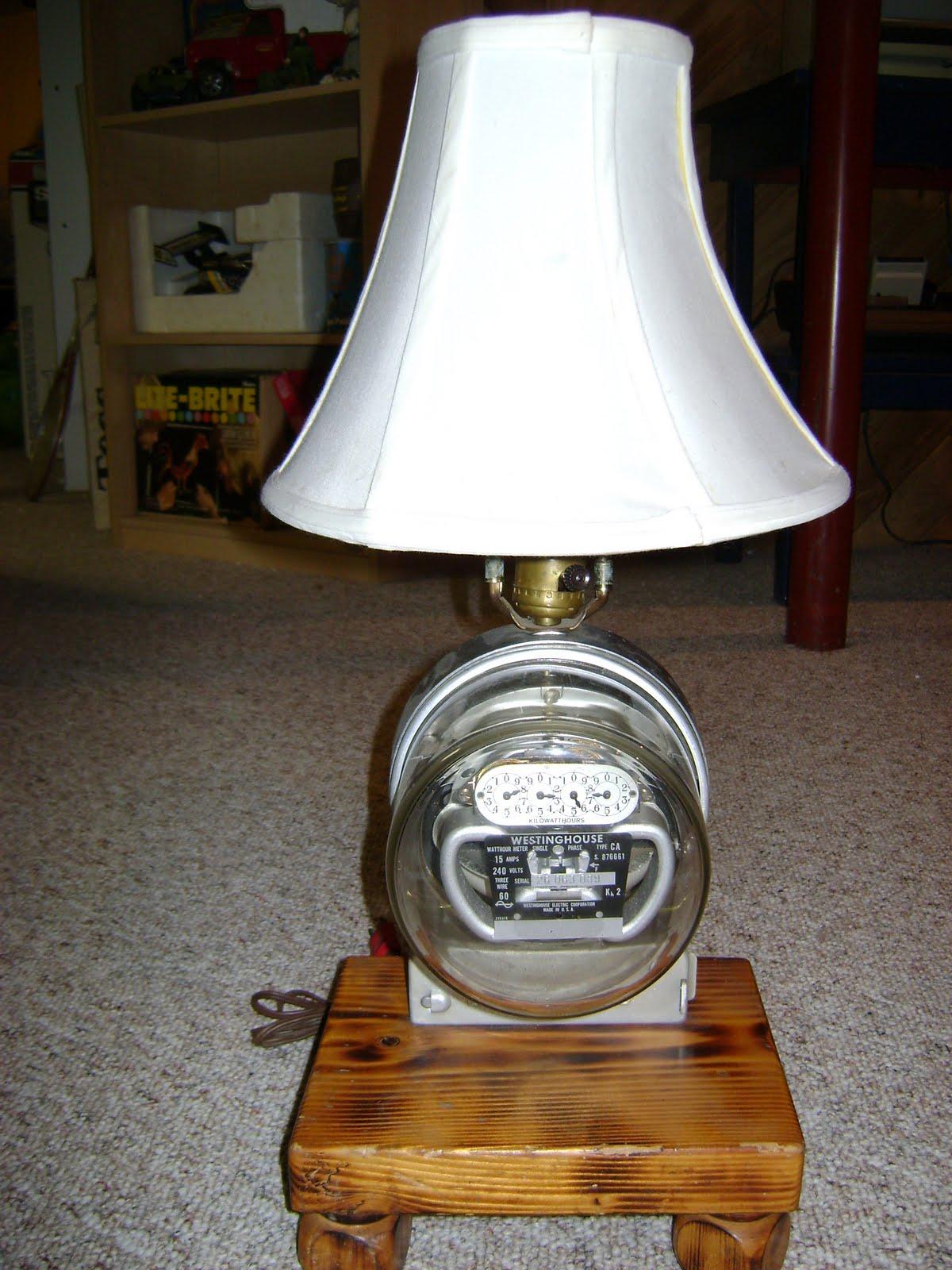 Adventures In Ebay  Electric Meter Table Lamp