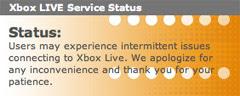 Xbox live trouble status pics