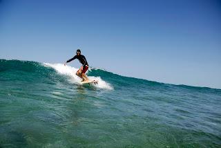 Nick Moffatt Surfing fins first