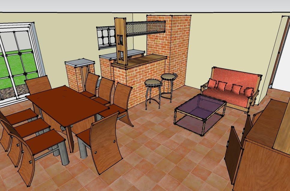 Planos proyectos y construcci n en paran vivienda for Cocina comedor integrados