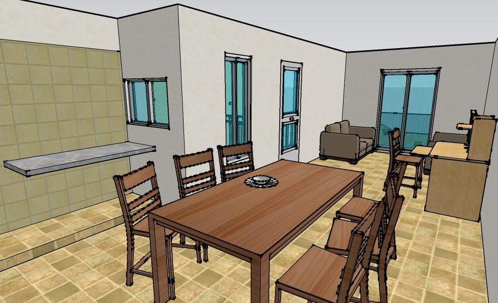 Planos proyectos y construcci n en paran comodidad e for Planos de cocinas comedor y living