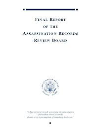 Reporte Final Sobre la Muerte de J.F.Kennedy