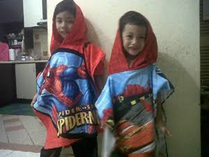 2beradik with Hooded Towel..tq..