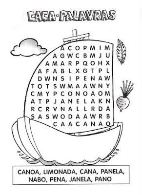 68 Cruzadinhas e Caça palavras para crianças