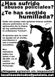 CAMPAÑA CONTRA LOS ABUSOS POLICIALES.