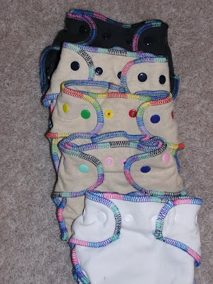picture of 5 cloth diapers