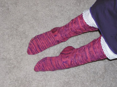 pointy toes in socks