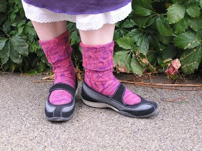 socks in shoes, cuffed