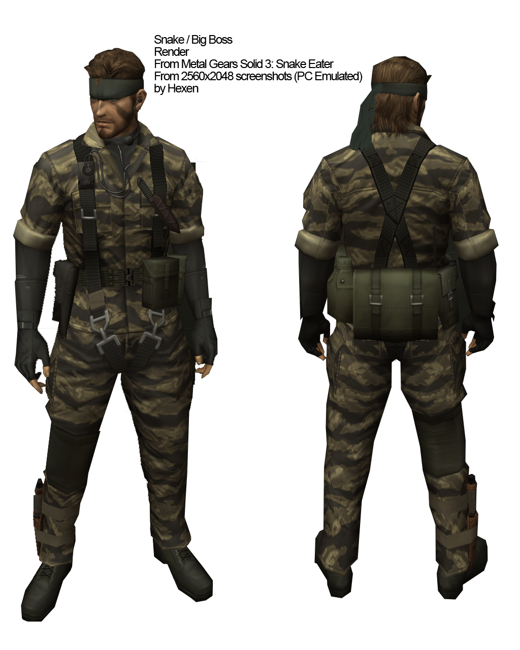 Projet de tenue :  Snake (Big Boss) MGS3+Snake+Reference