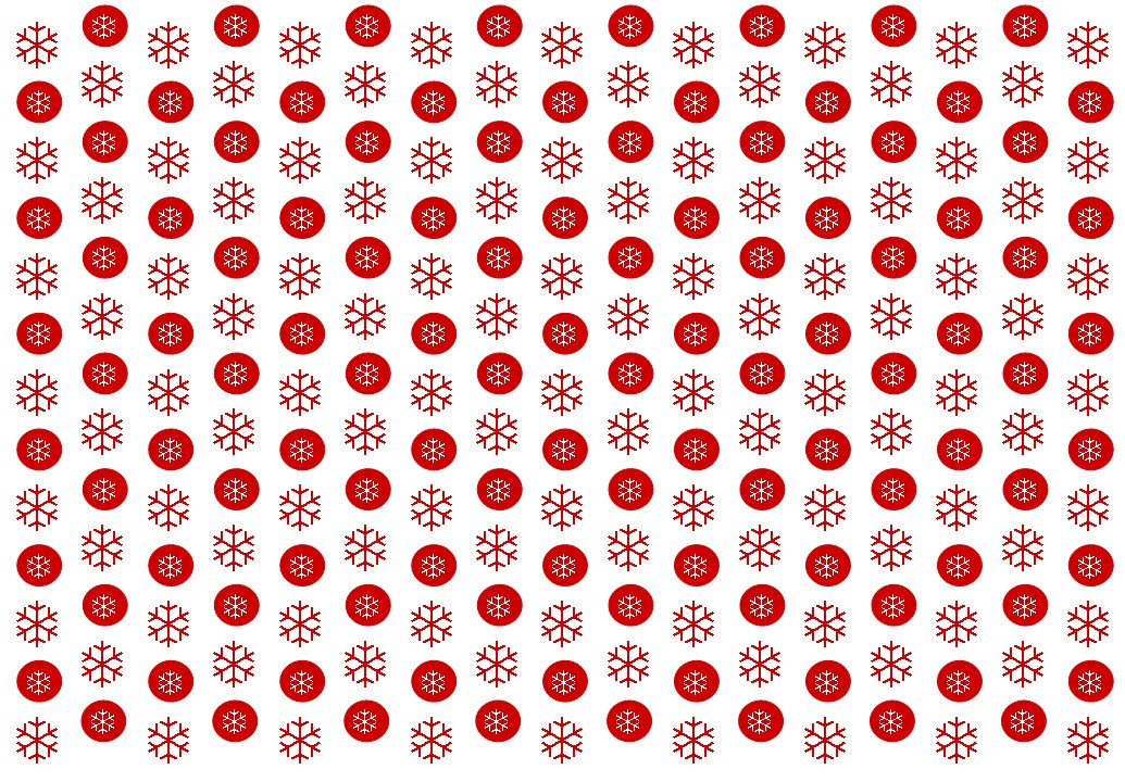 Gingham Cherry Free printable Christmas snowflakes and spots red