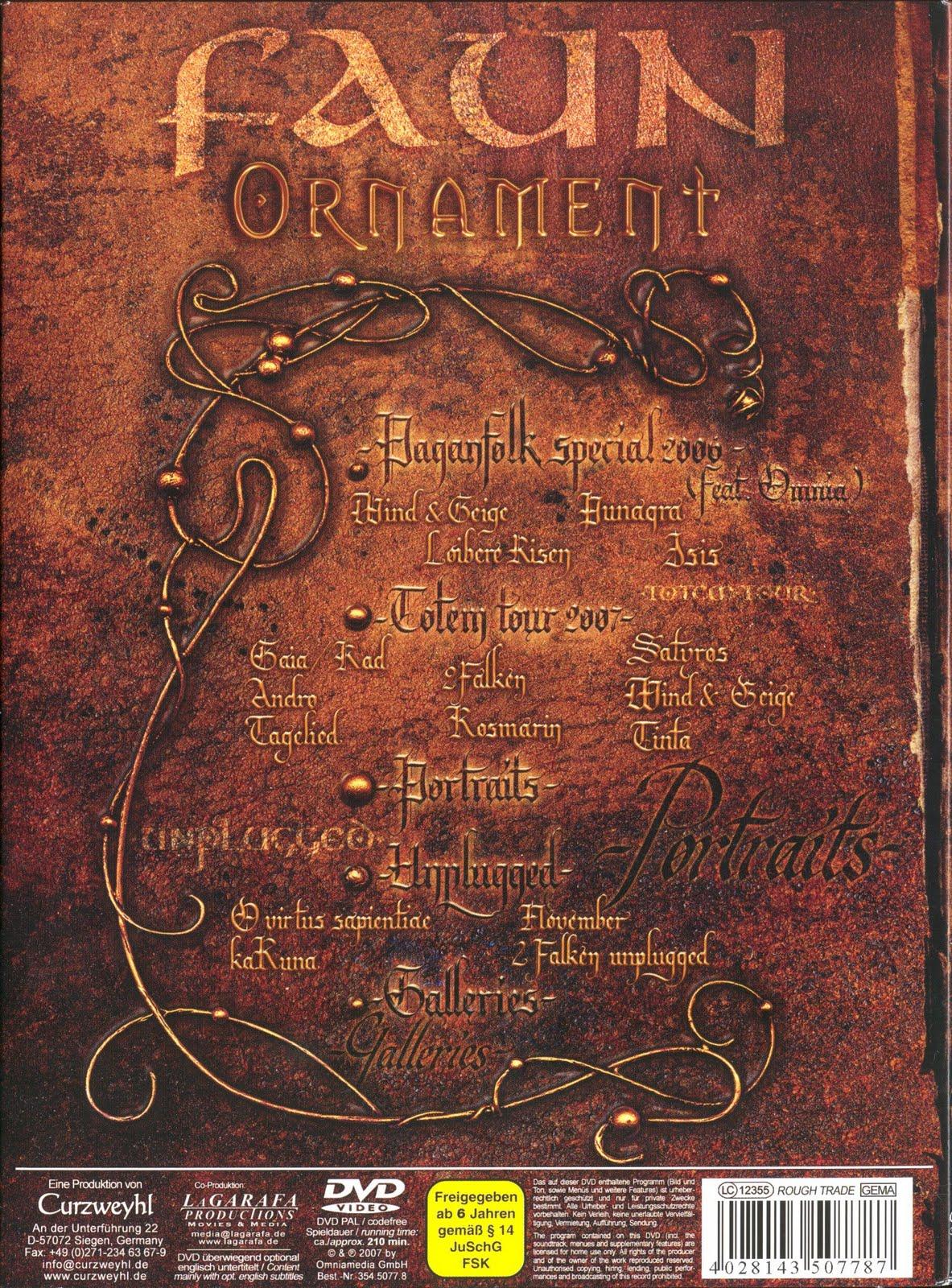 FAUN   ORNAMENT (DVD5)(2007)