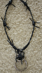 Barbed Wire Leather Necklace