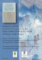 """Presentació a Santa Maria de """"El pont de la mar blava"""" de Francesc Lladó"""