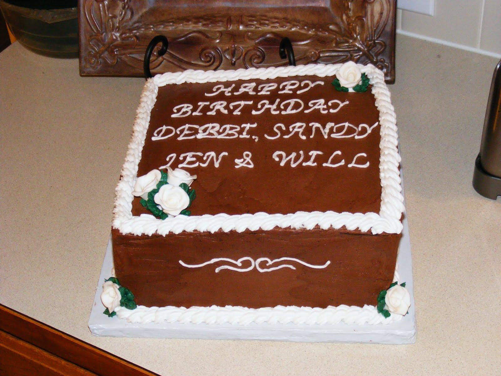 Birthday Cake Images Square : PattiCakes!: Square Birthday Cake