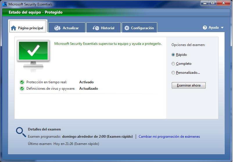 Punto De Vista Microsoft Security Essentials
