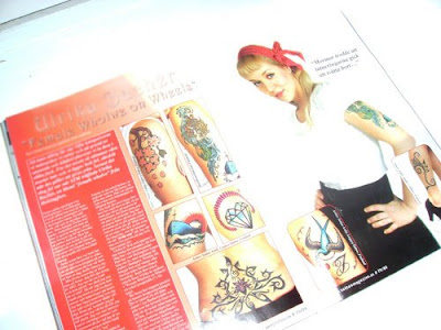 my tattoos are) in the latets number of Scandinavian Tattoo Magazine.