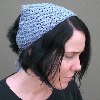 Crochet Hair Kerchief Pattern : Bandana, crochet