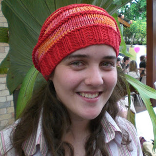 Slouchy beanie, bamboo yarn