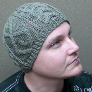 Beanie pattern, aran textured stitches