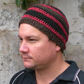 ISLAND WARRIOR, hemp beanie in warrior stripes