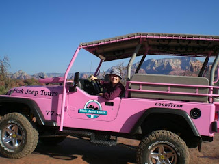 Pink Jeep Tour, in the driver's seat